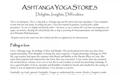 Ashtanga Yoga Stories from Norman Blair